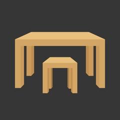 vector table,flat design,no gradient
