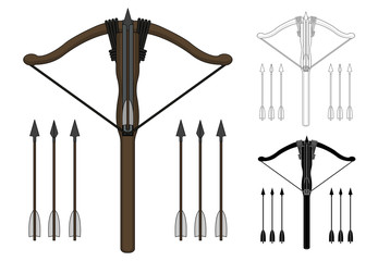 Crossbow with arrows ser