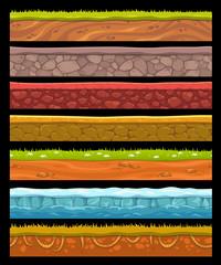 Seamless landscape elements set