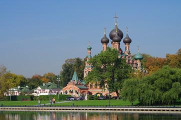MOSCOW, RUSSIA - September 25, 2015: Holy Trinity Church in the Ostankino region