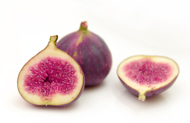 Ripe sweet figs fruits isolated
