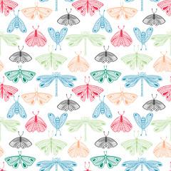 Moth seamless pattern