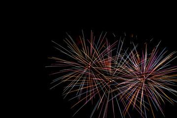 Fireworks on polaroid