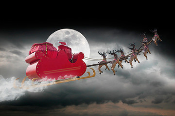 Santa Claus cloudy night