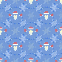Happy new year and merry christmas seamless pattern.