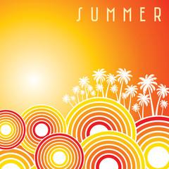 Summer holidays illustration & summer background