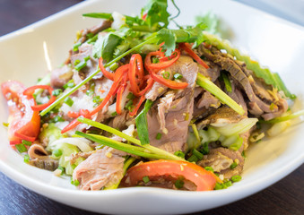Thai Spicy roasted beef salad