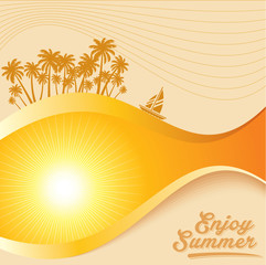 Summer holidays illustration & summer background