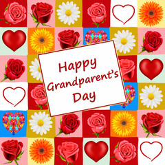 Happy Grandparent's Day card, with roses
