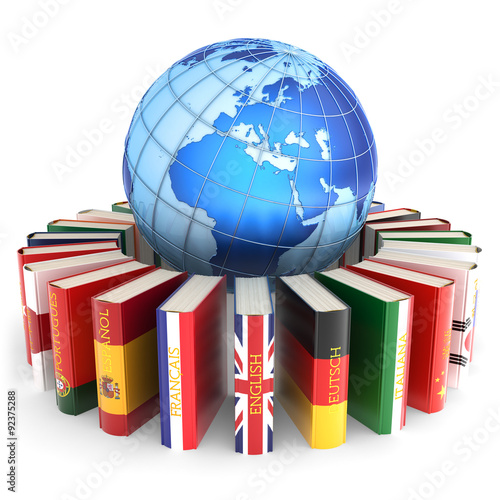 Foreign Languages Learn And Translate Education Concept - Languages on earth