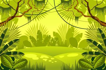 forest. jungle. vector illustration