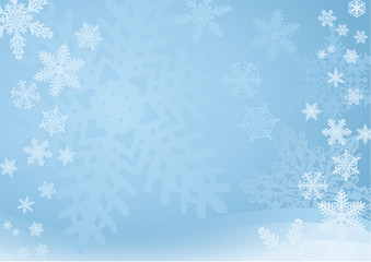 Blue Snowflake Background — A blue snowflake background with many different snowflakes. Soft and light.