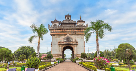 Patuxai literally meaning Victory Gate in Vientiane,Laos