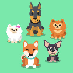 Cartoon dogs standing collection