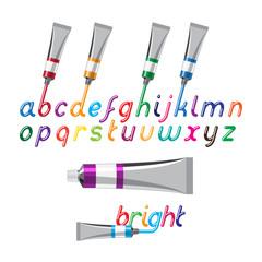 paint tubes font
