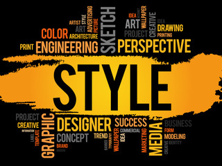 STYLE word cloud concept