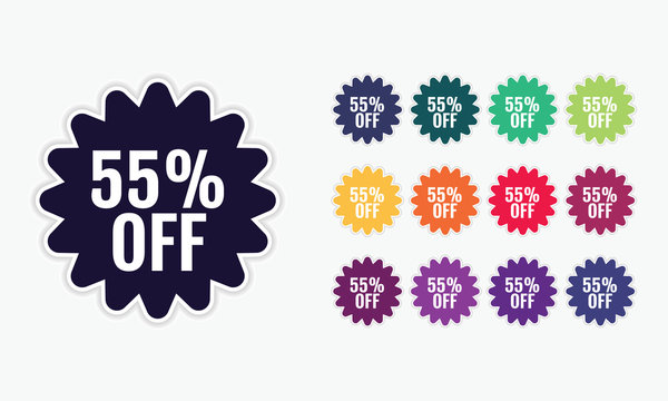 Special offer 55%  stickers set.