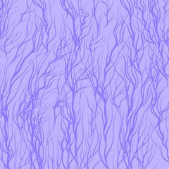 Trees on Blue  Background