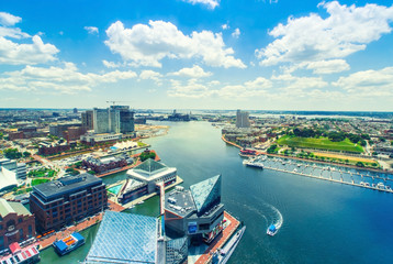 Foto op Plexiglas Groen blauw Inner Harbor of Baltimore, Maryland