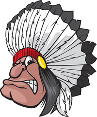 Indian Chief. Vector and high resolution jpg files available.