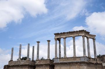 Monumental teatro de la antigua ciudad romana de Mérida. España