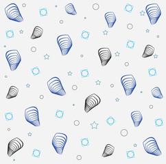 waves texture blue Print