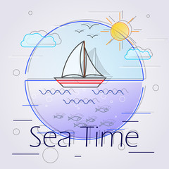 Sea time lines