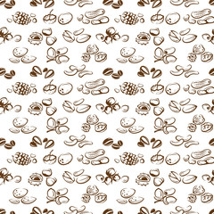 background of seamless nuts pattern