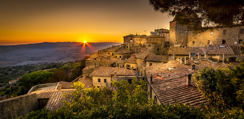 Photo Blinds Tuscany Volterra Sunset
