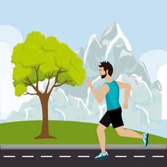 Running sport male
