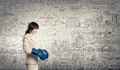 Wall Mural - Fighting for success