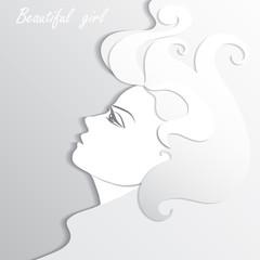 Woman profile beauty illustration vector