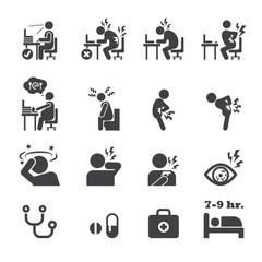 office syndrome icon