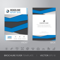 business annual report brochure flyer design layout template in