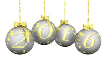 Capodanno 2016 Natale 02 Addobbo natalizio, palle di natale, con decorazione del nuovo anno: il 2016.
