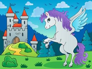Garden Poster Pony Fairy tale pegasus theme image 3