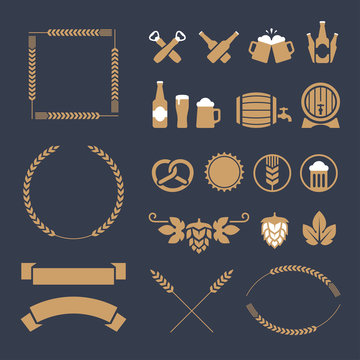 Beer icons and signs