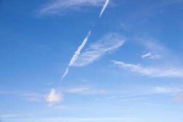 Beauty peaceful sky with white cloud