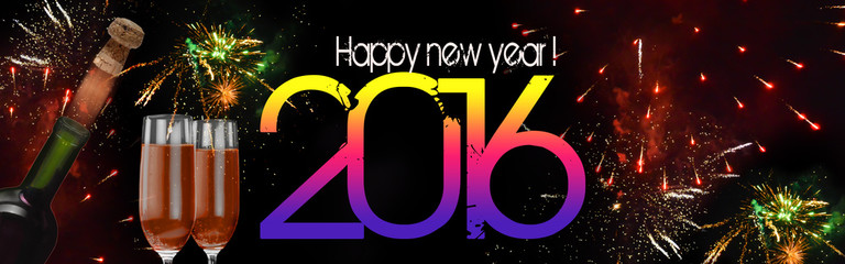 New year banner, 2016