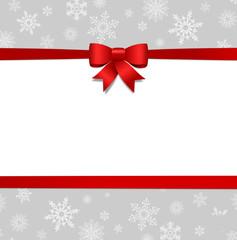 Weihnachtskarte Schleife
