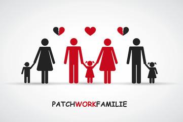 Patchworkfamilie drei Kinder