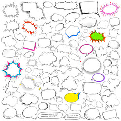 Comic style chat and speech bubble jumbo collection