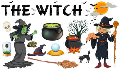 Witch and dark magic objects