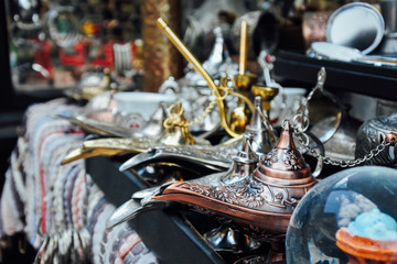 Souvenirs at Turkish market in Istanbul