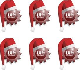 Weihnachtsrabatt Sterne rot