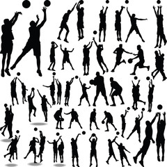 basketball player silhouette vector