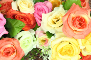artificial flowers decorative background