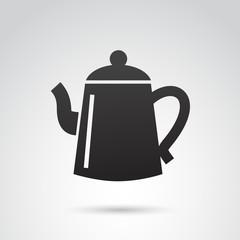 Tea pot VECTOR icon.