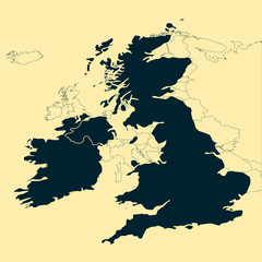 UK & Ireland vector map