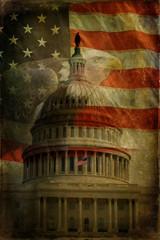 US Capitol, Flag, Eagle Textured